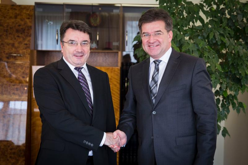 Minister Lajčák hosts a farewell reception for the Ambassador of Belarus, Vladimir Serpikov