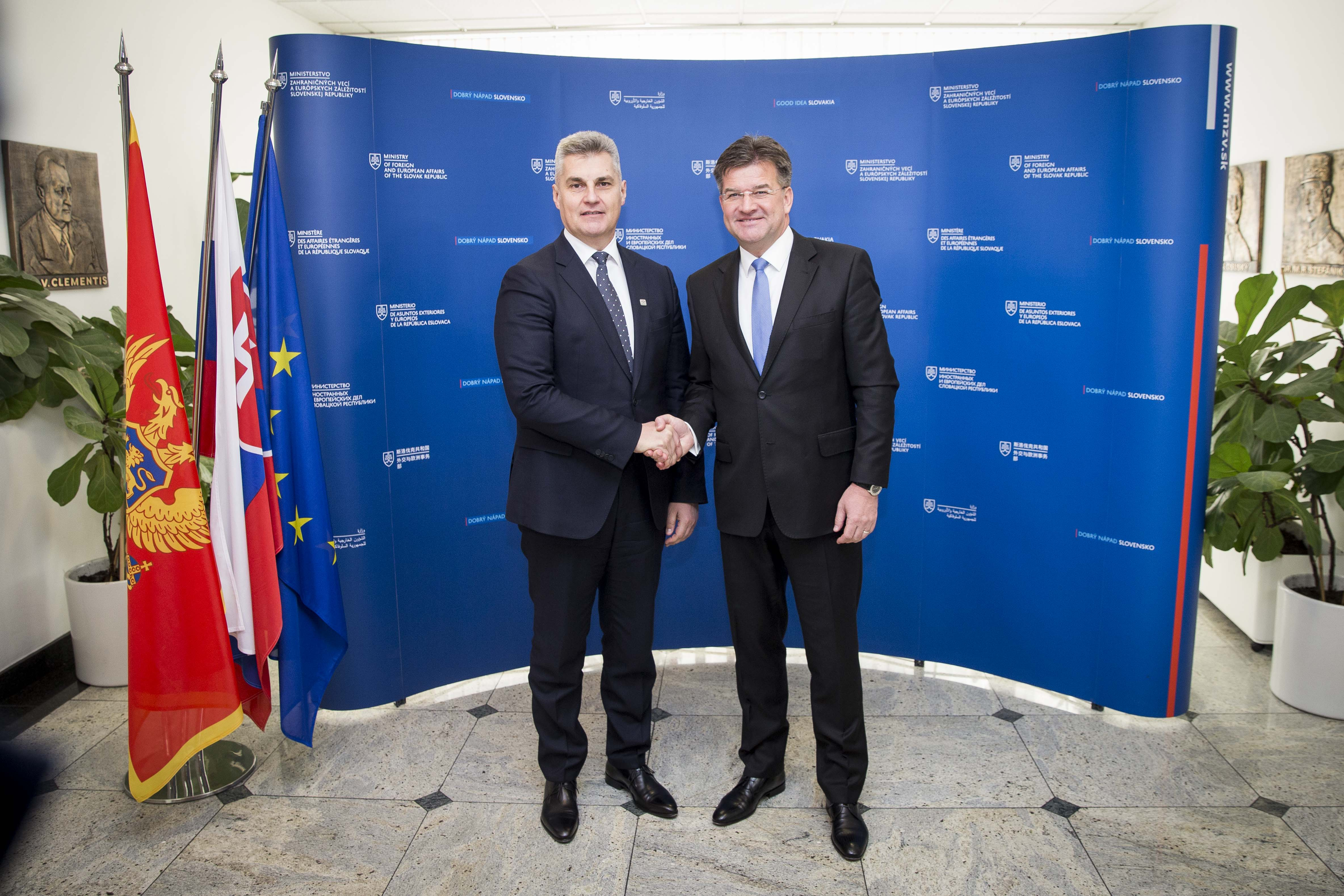 "Minister Lajčák: ""Montenegro has progressed most of all Western Balkan partners in their EU and NATO integration processes"""