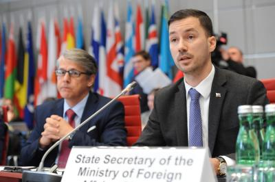 Spirit of inclusiveness, transparency and co-operation to guide Slovakia's Chairmanship of the OSCE Forum for Security Co-operation, says State Secretary Parízek