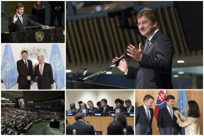 President of the 72nd session of the UN General Assembly Miroslav Lajčák handed over the gavel to his successor.