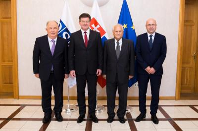 Minister Lajčák holds talks with OSCE representatives on the situation in Ukraine