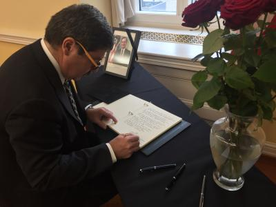 State Secretary Ružička Offers His Condolences at the US Embassy